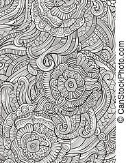 Abstract sketchy decorative doodles hand drawn ethnic pattern