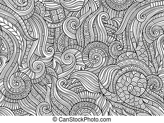Abstract sketchy decorative doodles hand drawn ethnic ...