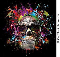 skull fashion art