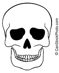 Abstract skull isolated on white