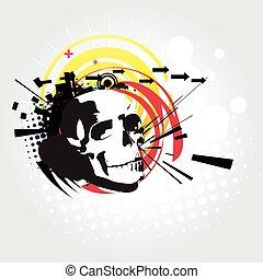 Abstract skull vector art