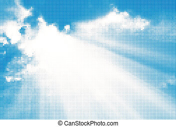 Abstract sky background. Vector illustration