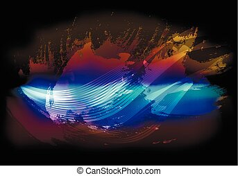 Abstract sky background with flying clouds. EPS10 vector illustration