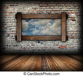 abstract sky view through window