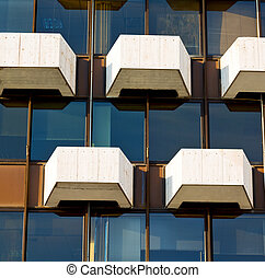 abstract skyscraper and sky in terrace