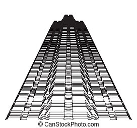 Abstract Constructions of the Skyscraper From Top Vector