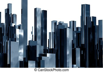 abstract skyscrapers 3d - abstract 3d skyscrapers business...