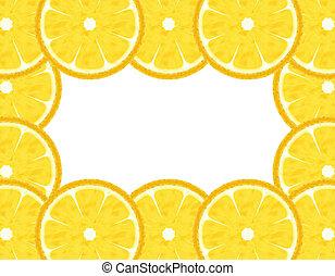 Abstract slice orange border