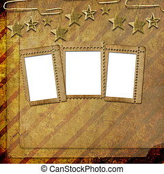 abstract, slordige , oud, achtergrond, in, scrapbooking,...