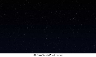 Abstract small starry sky, art video illustration.