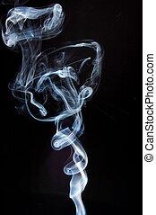 abstract smoke background or smoking concept on black