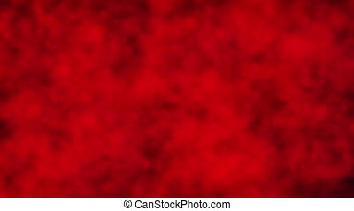 Abstract smoke clouds in red on bla