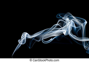 color smoke isolated on a black background