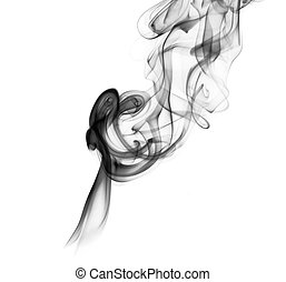 Abstract smoke curves over the white