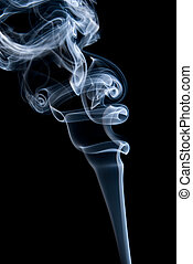 abstract smoke in black background