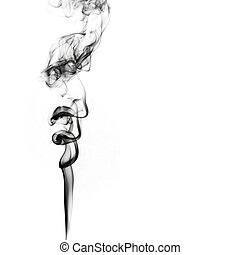 Abstract smoke isolated on white