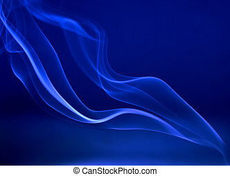 abstract smoke trails on deep blue background