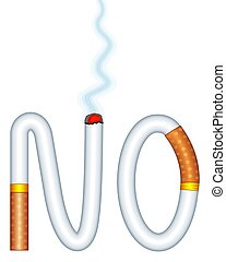 Abstract smoking forbid - Concept illustration of the forbid...