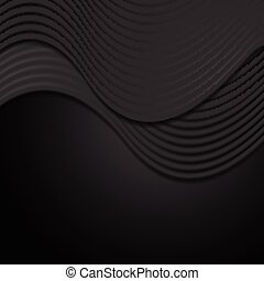 Abstract smooth black waves background