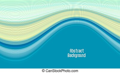 abstract smooth blue curve background design