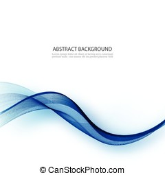 Abstract smooth color wave vector. Curve flow blue motion illustration. Smoke blue wave design