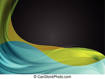 Abstract smooth colorful waves vector background
