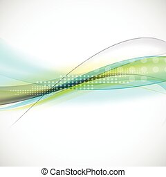 abstract smooth light lines waves background, vector illustration