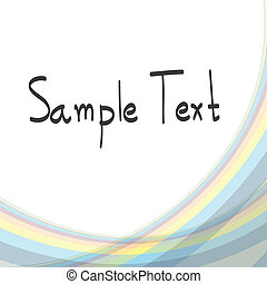 Abstract smooth lines vector background