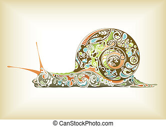 Abstract Snail - Illustration of abstract design snail.