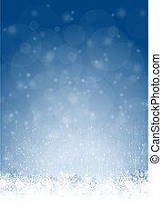 abstract snow flakes background - snow flakes on bottom side...