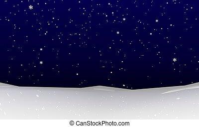 Abstract Snowfall Background - Abstract winter snowfall....