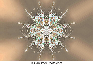 abstract snowflake for decoration