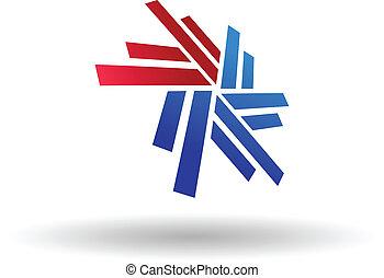 Abstract snowflake symbol