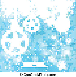 Abstract Snowflakes blue colorful christmas ball vector design