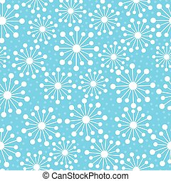 Abstract snowflakes in a seamless pattern