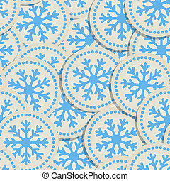 Abstract snowflakes seamless background