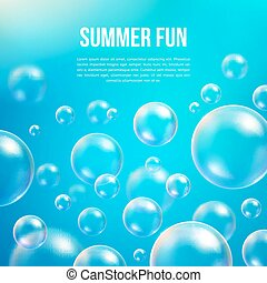Abstract soap bubbles vector background