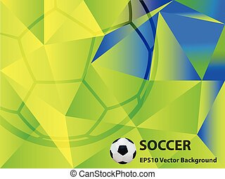 Abstract Soccer Background Vector Illustration