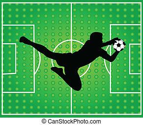 goalkeeper silhouette