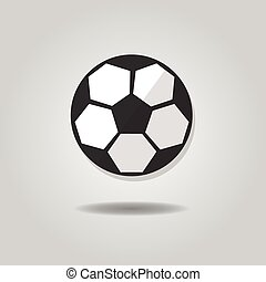 Abstract soccer ball icon