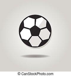 Abstract soccer ball icon