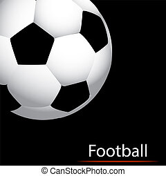 Abstract soccer ball on a black background