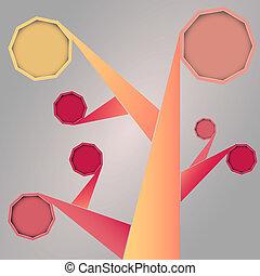 Abstract Social Media Tree shape wi