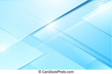 Abstract soft blue modern geometric shape with futuristic concept background