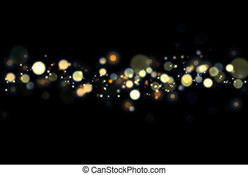 Abstract soft bokeh and lights of city skyline in night time Background.
