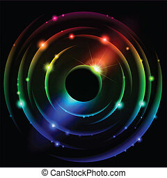 Abstract Solar system #4 - Abstract Solar system. Vector...