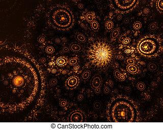 galaxy - abstract solar system galaxy on dark background