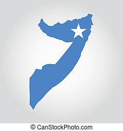 abstract Somalia flag on a white background