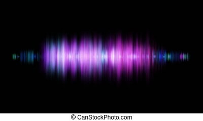 Abstract sound wave background glowing light audio Wave...
