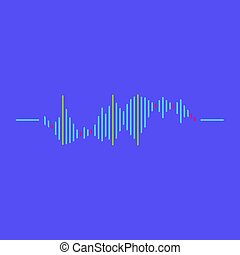 Abstract Sound wave rhythm symbol with minimalistic style. Vector illustration.
